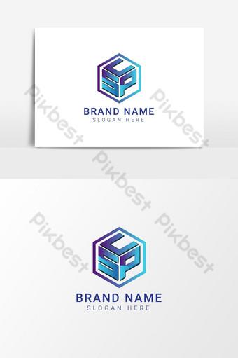 scp letter logo vector logo design letter logo template diseño de icono de logotipo minimalista Elementos graficos Modelo EPS
