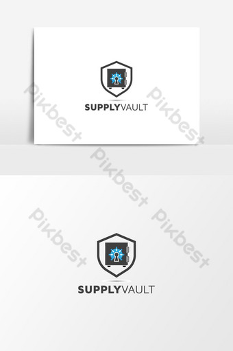 Vault Logo | security cyber logo design template. PNG Images Template AI