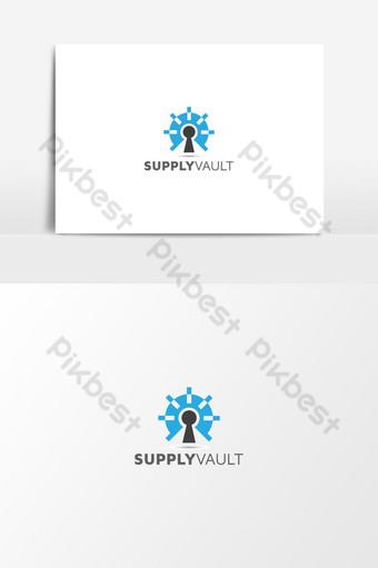 Security vault logo | Technology Security Vault Logo | vector design PNG Images Template AI