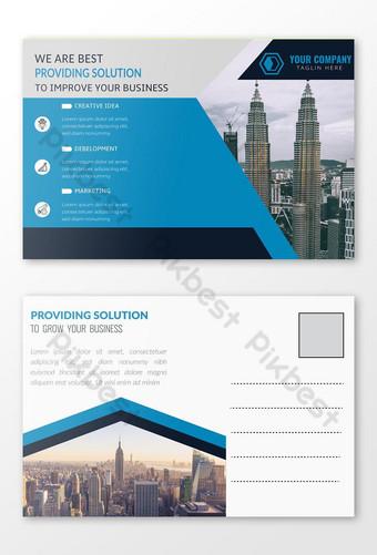 Conception de cartes postales professionnelles d'entreprise Conception de cartes d'événement Mail direct EDDM Temp Modèle EPS