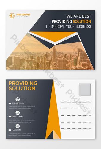 Conception de cartes postales professionnelles d'entreprise Conception de cartes d'événement Modèle EPS