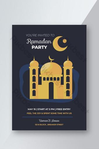 plantilla de volante simple fiesta de Ramadán Modelo PSD
