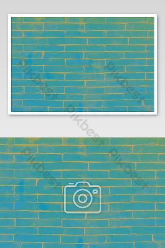 Ladrillos azules brillantes y textura de hormigón para pared abstracta de patrón Fotografía Modelo JPG