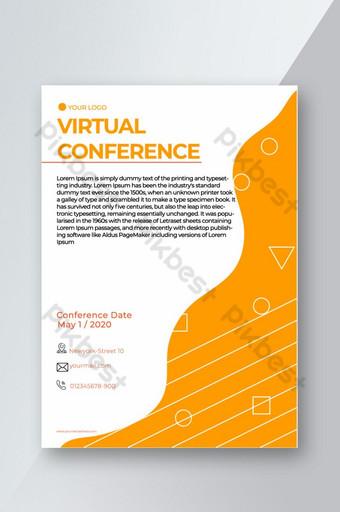 Flyer de séminaire de conférence virtuelle d'entreprise prêt à imprimer Modèle EPS