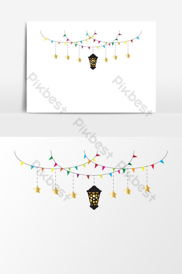 Ramadan Decorations With Luminous Ramadan Lantern Png Images Eps Free Download Pikbest