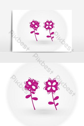 imagen de vector de logotipo de flor de loto púrpura abstracto Elementos graficos Modelo EPS