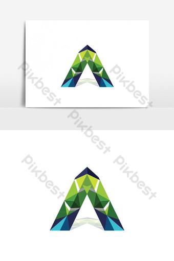 huruf modern dan logo vektor logo warna-warni trendi Elemen Grafis Templat AI