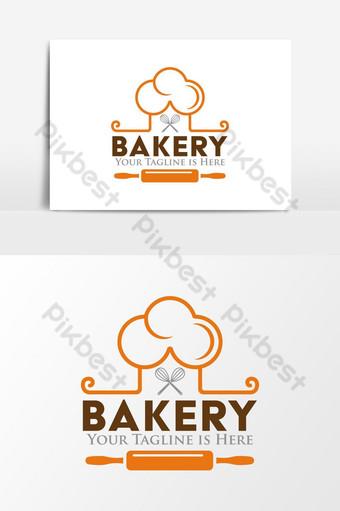 panadería comida parrilla restaurante logo Elementos graficos Modelo AI