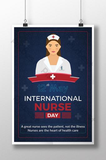 desain poster hari perawat internasional yang kreatif Templat AI