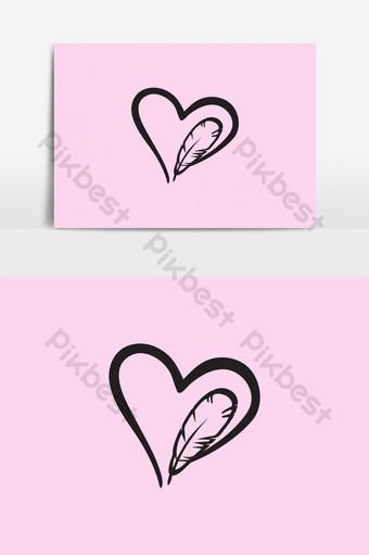 amor corazon elemento grafico de vectores icono de corazon de amor corazon signo corazon de amor imagen de arte Elementos graficos Modelo EPS