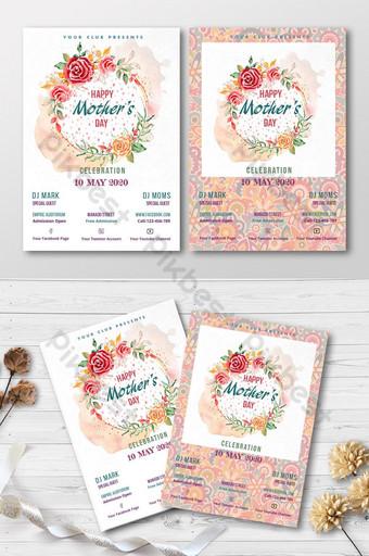 cartão de convite especial para o dia das mães Modelo PSD