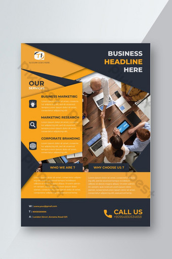 Meilleur design de flyer pour agence commerciale pour la publicité de votre entreprise Modèle AI