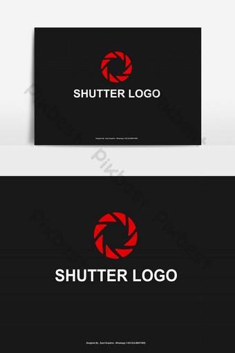 logotipo de obturador de cámara de color rojo Elementos graficos Modelo EPS