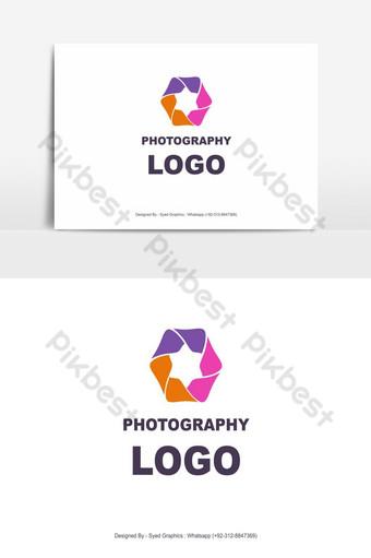 obturador de cámara logo colorido Elementos graficos Modelo EPS