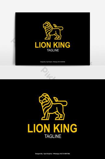 diseño del logotipo del rey león Elementos graficos Modelo EPS