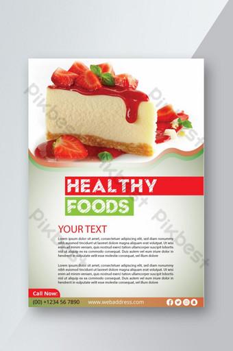 modèle de conception de flyer d'aliments sains Modèle AI