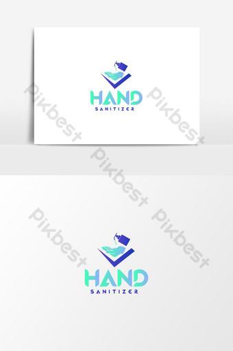 logotipo de desinfectante de manos elemento gráfico de vector de logotipo de desinfectante Elementos graficos Modelo AI
