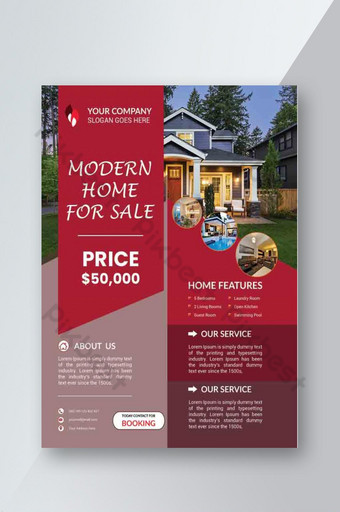 Modèle de conception de flyer immobilier d'entreprise créative Modèle PSD