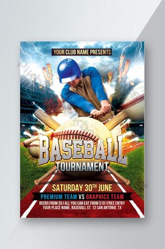 Modèle de Flyer de tournoi de baseball Modèle PSD