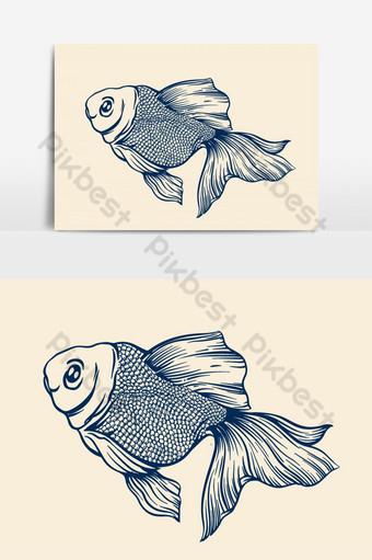 vector de ilustración de pez koi Elementos graficos Modelo EPS