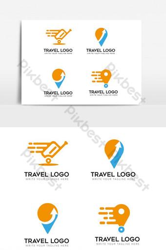 Travel logos vector design set PNG Images Template EPS