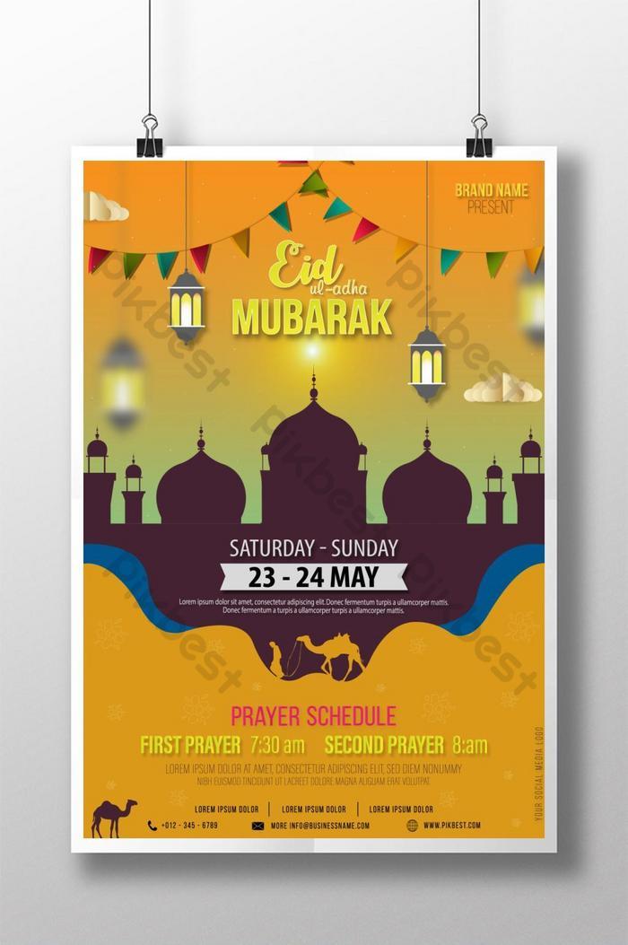 Muslim Islamic Eid Mubarak Eid Ul Adha Poster Ai Free Download Pikbest