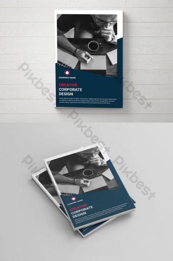 Modèle de conception de couverture de brochure d'entreprise professionnelle Modèle PSD