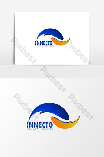 servicio de pesca logo diseño plantilla logo vector elemento gráfico Elementos graficos Modelo AI