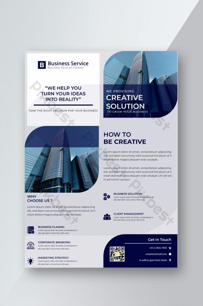 business solution corporate flyer design template