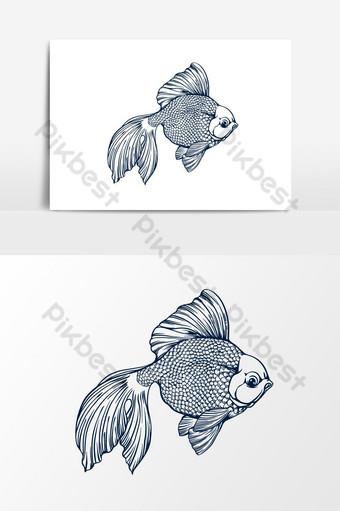 Ilustración de vector de pez dorado Elementos graficos Modelo EPS