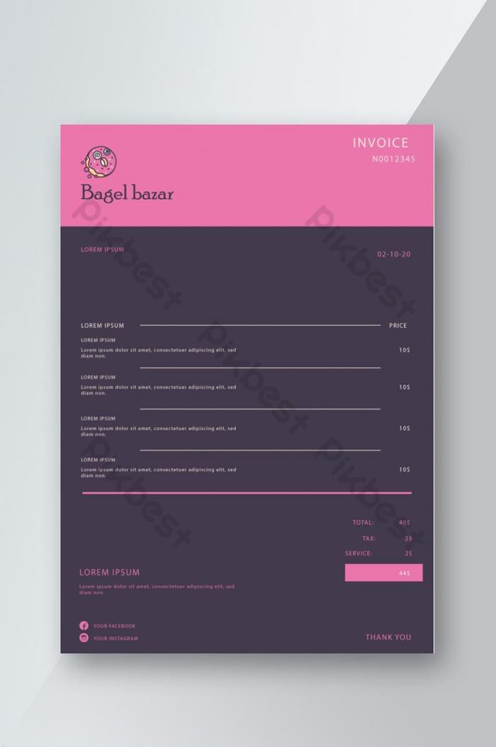 Restaurant Invoice Template Design Word Doc Free Download Pikbest