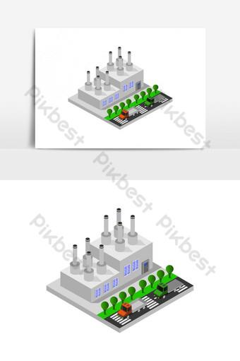 Clase de escuela isométrica ilustrada en vector sobre fondo blanco. Elementos graficos Modelo EPS
