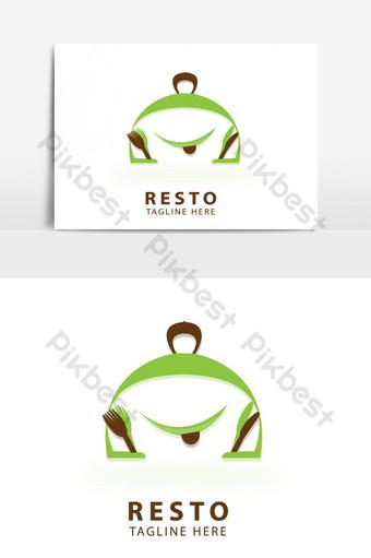 resto logo vector plantilla diseño ilustración Modelo EPS
