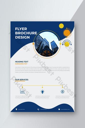 Conception de modèle de flyer d'entreprise créative simple Modèle EPS
