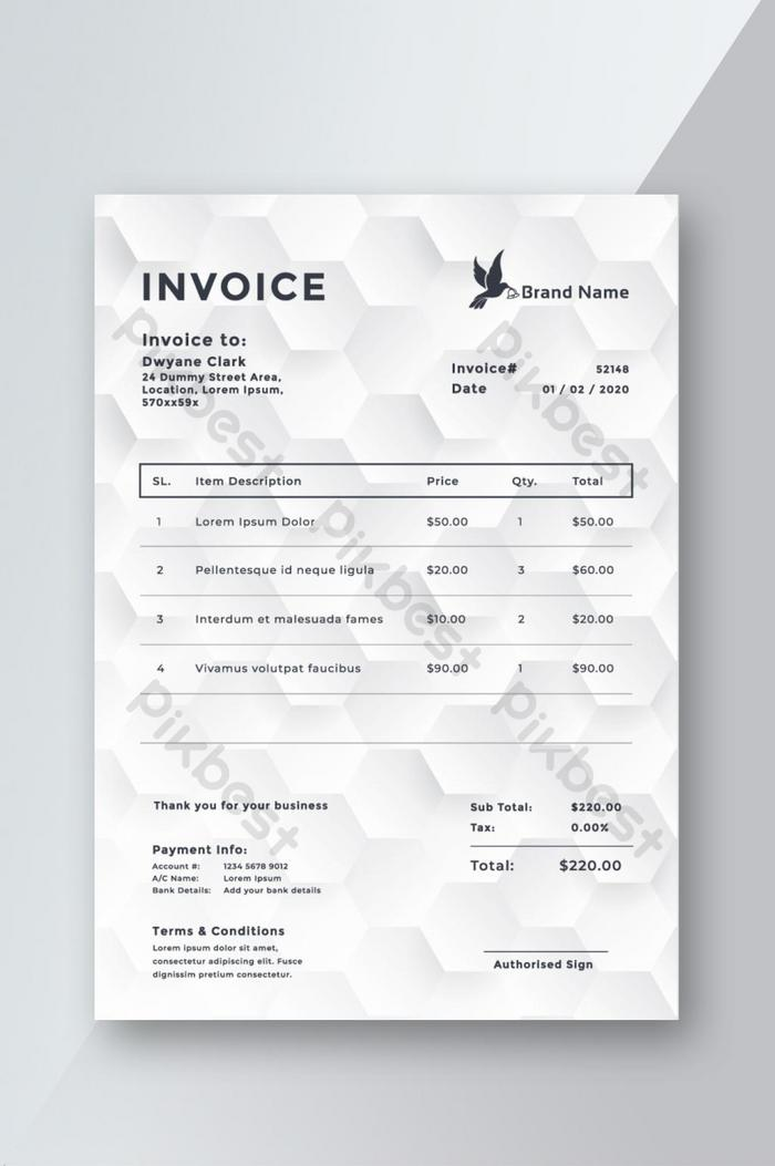 Corporate Invoice Template Design Word Doc Free Download Pikbest