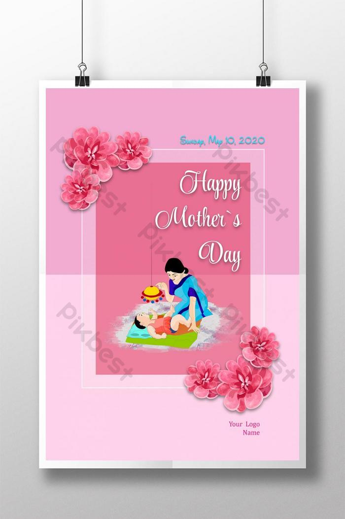 happy mothers day poster design