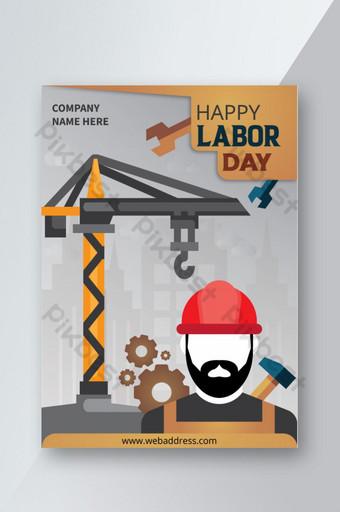 mẫu thiết kế poster ngày lao động hạnh phúc Bản mẫu PSD