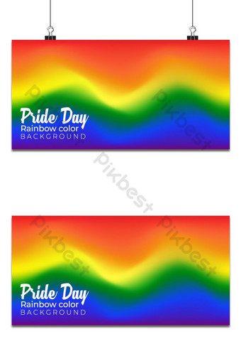 pride day background rainbow color cute illustration Backgrounds Template EPS