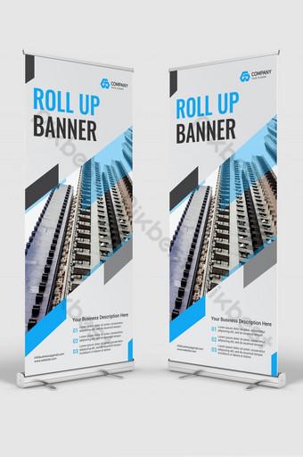 letrero de negocios corporativos roll up banner stand plantilla de diseño Modelo AI