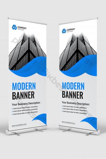 letrero moderno corporativo roll up banner stand diseño de plantilla Modelo AI