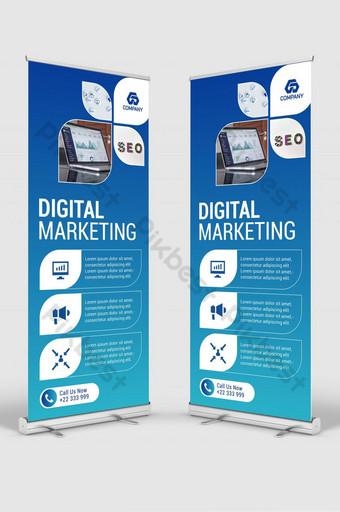 banner de marketing digital stand señalización roll up banner diseño de plantilla Modelo AI