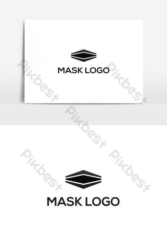 imagen de stock de vector de diseño de máscara moderna Elementos graficos Modelo AI