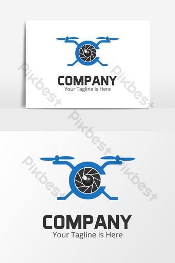 drone photography c letra logo Elementos graficos Modelo AI
