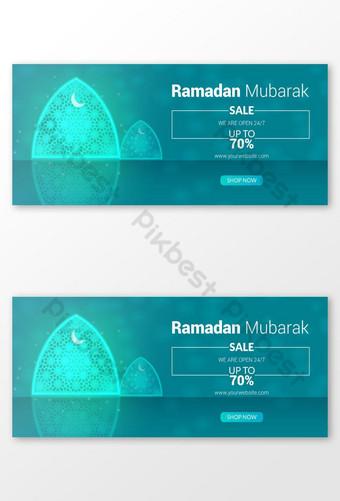 gambar sampul facebook ramadan mubarak untuk perusahaan bisnis apa pun Templat PSD