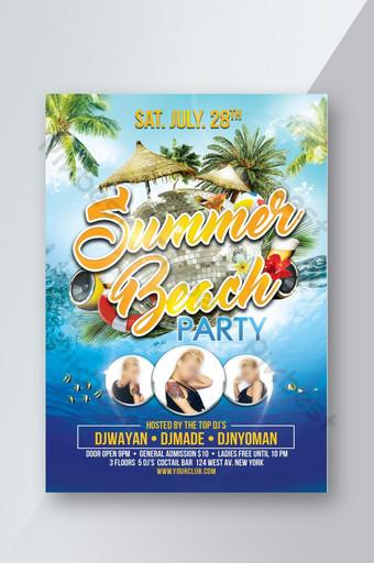 Modèle PSD de Flyer Summer Beach Party Modèle PSD