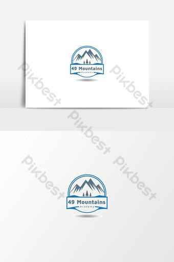 vector gratis de logo de academia de naturaleza de montaña Elementos graficos Modelo AI