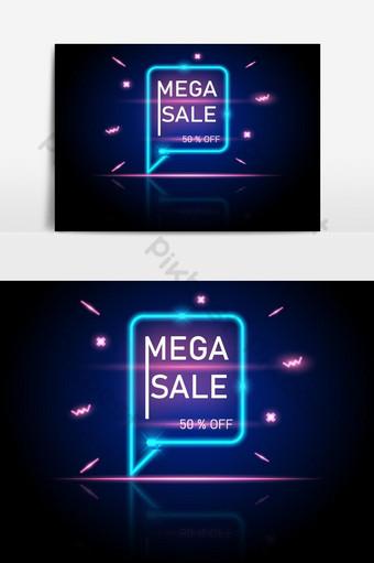 بيع الترويج الضخم متوهجة راية الأزرق الفاتح والوردي صور PNG قالب EPS