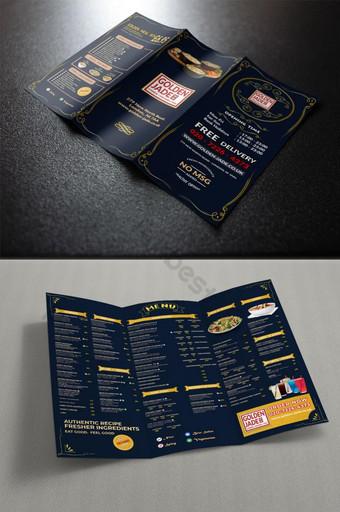 Conception de cartes de menu de restaurant Modèle PSD