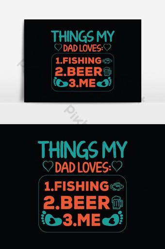 Conception de t-shirts papa Affiche typographique graphique de vecteur ou t-shirt Éléments graphiques Modèle EPS