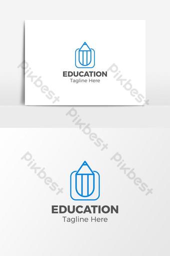 diseño de logo de centro educativo Elementos graficos Modelo EPS